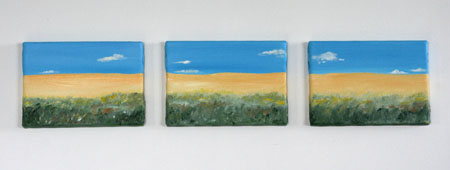 Zofia Lategano Triple Dunes Yellow and Blue